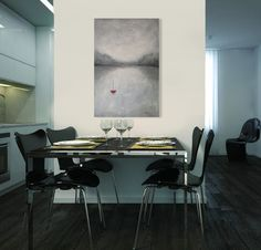 """Oeuvre """"Entre deux mondes"""" Artiste Catherine Fagnan www.catherinefagnan.com Les Oeuvres, Conference Room, Table, Furniture, Home Decor, Artist, Decoration Home, Room Decor, Meeting Rooms"""