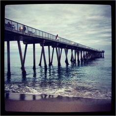 #HermosaBeach pier tonight during sunset