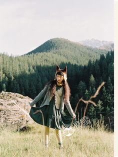 Be a forest girl, add fox ears into your ensemble. Grunge Style, Soft Grunge, Tokyo Street Fashion, Japanese Street Fashion, Grunge Outfits, Grunge Fashion, Le Happy, Vivienne Westwood, Doc Martens