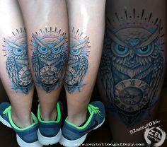 Owl tattoo; by Blaze www.facebook.com/zentattoozagreb www.zentattoogallery.com