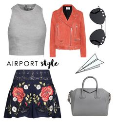 """""""Airport Style"""" by lolagar ❤ liked on Polyvore featuring Givenchy, Haute Hippie, Acne Studios, T By Alexander Wang and Plane"""