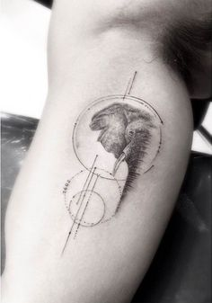 Elephant tattoo By Dr Woo Trendy Tattoos, Small Tattoos, Tattoos For Women, Tattoos For Guys, Cool Tattoos, Tatoos, Animal Tattoos For Men, Tattoo Animal, Cute Elephant Tattoo