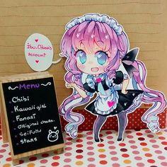 Bienvenido, Goshujin Sama(?) /U//7//U\  La especialidad del día es un chibi kawaii vestida de maid.  Adasddsad mi sueño es vestirme de maid aunque sea un día, con gusto las atendería  #kawaii #moe #cute