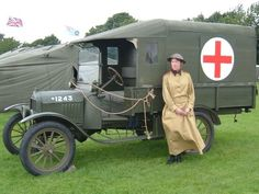 Discussion board for World War 1 reenactors Vintage Trucks, Old Trucks, Ford Ambulance, Cool Old Cars, Cool Vans, Armored Fighting Vehicle, Army Vehicles, Vintage Medical, My Sister In Law