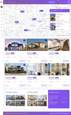 BonVue is clean and modern design responsive bootstrap #dashboard template for #realestate, custom #admin panels, CMS, CRM, SaaS, and web applications website with 1500+ UI components, icons & options to live preview & download click on Visit #uidesign