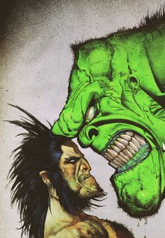 Original Cover Art for Hulk vs Wolverine