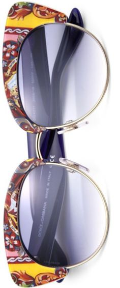 Dolce & Gabbana Sicilian Carretto 52MM Acetate & Metal Cat's-Eye Sunglasses