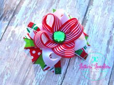 Hair Bow Girls Baby Christmas Holiday M2M by LottiesLoveliesBows, $5.99