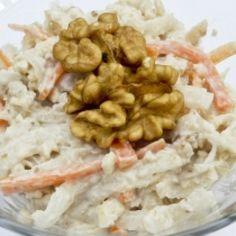 Celerový salát s ořechy Almond, Meat, Chicken, Food, Essen, Almond Joy, Meals, Yemek, Almonds
