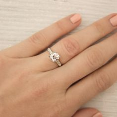 .75 Engagement Rings On Hand Models 4
