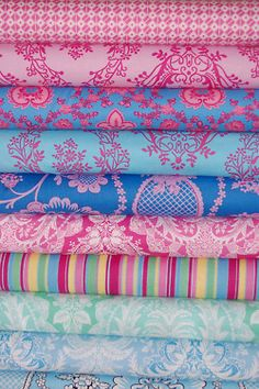 I wanna make a quilt with... like the top 6 colors. So cute and girly