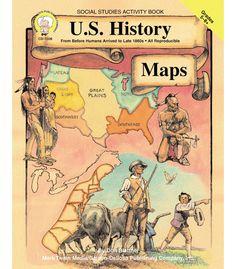 #CDWishList U.S. History Maps Resource Book - Carson Dellosa Publishing Education Supplies