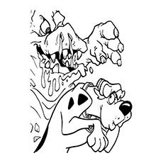 scooby doo coloring pages mud monster