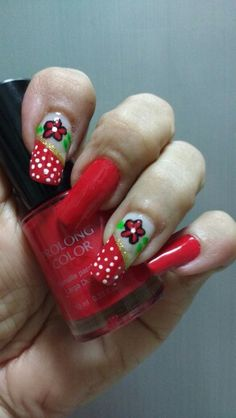 Nails nails...color red.