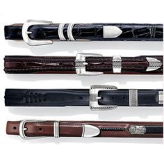 Catera Croco Belt $60 Portofino Belt $80 Salina Taper Belt $57 Roberts Golf Belt $67