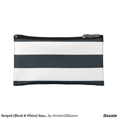 Shop Cosmetic Bags Cosmetic Bag Black & White Stripes created by ijustwannabe. Unique Gifts For Her, Cool Gifts, Best Gifts, Black White Stripes, Black And White, New Cosmetics, Gifts For Your Girlfriend, Elegant Chic, Personalized Products