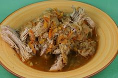 A Year of Slow Cooking: Slow Cooker Pulled Pork with Sauerkraut Recipe. So yummy in my tummy.