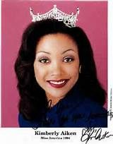 Kimberly Clarice Aiken, 1994, Columbia, South Carolina, 69th winner of Miss America contest