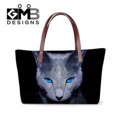 2017 Women's Over Shoulder Handbags for Work,Ladies Stylish Beach Tote Bag,Cute Cat 3D Pattern Hands Bag for Shopping,Girls bag