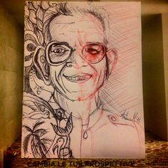 something in mind. sketch. pen on paper