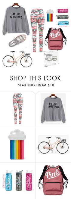 """""""Biking around camp Zama with friends"""" by nanner87 ❤ liked on Polyvore featuring interior, interiors, interior design, home, home decor, interior decorating, Converse, STELLA McCARTNEY, Shinola and Victoria's Secret"""