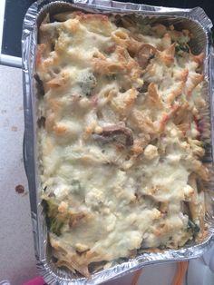 My food @kleabk spaghetti,cream,mushrooms,broccoli ,cheese