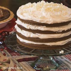Gooseberry Patch Recipes: Old-Fashioned Gingerbread Torte - layers of gingerbread and fluffy buttercream frosting!