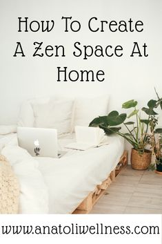 How to Create A Zen Space At Home - Discover how to make your home a calm environment, reduce stress and anxiety, and unwind after a busy day. Decor tips and ideas for your very own meditation room. Meditation Room Decor, Relaxation Room, Meditation Space, Yoga Meditation, Yoga Room Decor, Meditation Corner, Meditation Quotes, Zen Space, Home Design