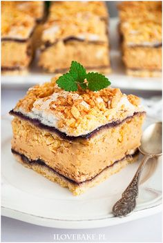 Ciasto hukzulka - I Love Bake German Desserts, Vegan Ramen, Ramen Noodles, Food Cakes, Tiramisu, Cake Recipes, Nutella, French Toast, Deserts