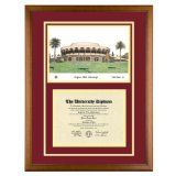 Arizona State University Diploma Frame with ASU Lithograph Art PrintBy Old School Diploma Frame Co.
