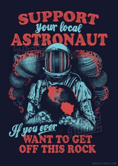 Red and Blue astronaut