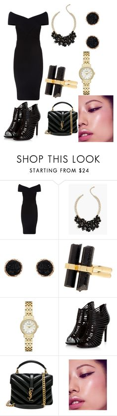 """Untitled #188"" by aewsews ❤ liked on Polyvore featuring Maje, Talbots, Humble Chic, House of Harlow 1960, Kate Spade and Yves Saint Laurent"