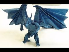 Origami Divine Dragon Bahamut Tutorial Part 1 2 Kraft Paper Designer