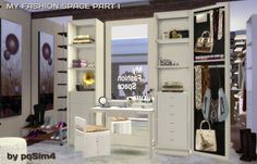 My Fashion Space Part I (vanity) by Mary Jiménez at pqSims4 via Sims 4 Updates