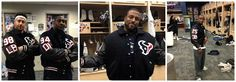 The entire Houston Texans team received letterman jackets!