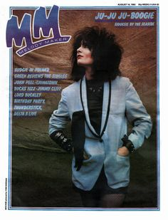 Siouxsie Sioux covers Melody Maker magazine's August 14, 1982 issue.