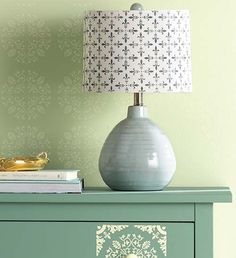 Fleur de Lis Stencil - New Vintage Decor Paint with a Matte Chalk Finish, Wax and Stencils in @Michaels Stores and great for #diy furniture, #crafts and home decor projects @Michaels Stores #plaidcrafts #marthastewart #marthastewartcrafts