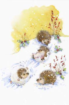 Christmas art by Jan Pashley
