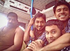 Selfie of 'Oru Vadakkan Selfie' actors- Nivin,Aju and Vineet rare pictures