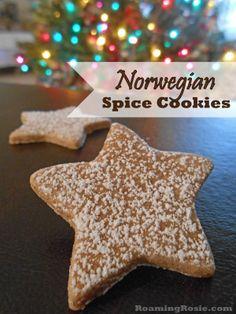 Posts about Norwegian Spice Cookies written by Roaming Rosie Norwegian Cuisine, Norwegian Food, Norwegian Style, Christmas Sweets, Christmas Goodies, Xmas, Christmas Holidays, Holiday Baking, Christmas Baking