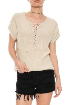 74ee5af83d9b7 RAQUEL ALLEGRA LACE UP TOP. Cute TopsBoutique ClothingPeacockLace ...