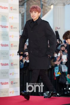Chanyeol - 160217 5th Gaon Chart K-POP Awards, red carpet Credit: bnt news. (제5회 가온차트 케이팝 어워드)