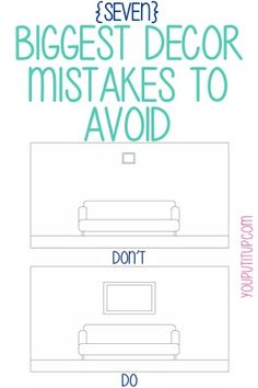 Are you making these big home decor mistakes? Learn how to make your home look it's best! #homedecor #interiordesign