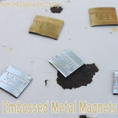 Make embossed metal with your Sizzix and embossing folders. Then turn that metal into magnets or wall art quickly and easily. Quick And Easy Crafts, Fun Arts And Crafts, Fun Crafts, Paper Crafts, Decor Crafts, Easy Craft Projects, Craft Tutorials, Craft Ideas, Bee Creative