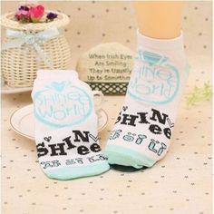 KPOP-Shinee-one-pair-Socks-free-Shipping
