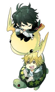 Hibari and Dino on their pets by RomanceSakura.deviantart.com on @DeviantArt