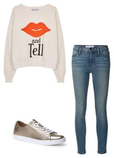 """""""Toss something on"""" by frannyryan on Polyvore featuring Frame Denim, Wildfox, Lacoste, women's clothing, women, female, woman, misses and juniors"""