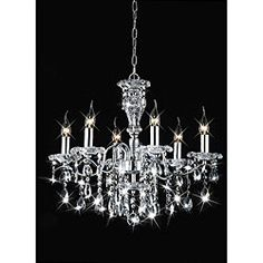 An alternative idea for lighting. Add a touch of elegance with a stunning crystal chandelier.