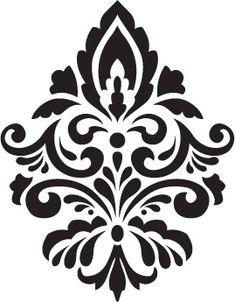 Stencil Wall Art, Wall Painting Decor, Damask Stencil, Stencil Patterns, Stencil Designs, Embroidery Flowers Pattern, Folk Embroidery, Diy Friendship Bracelets Patterns, Moroccan Stencil