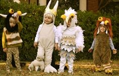 Cute!! 'Where The Wild Things Are' halloween costumes.